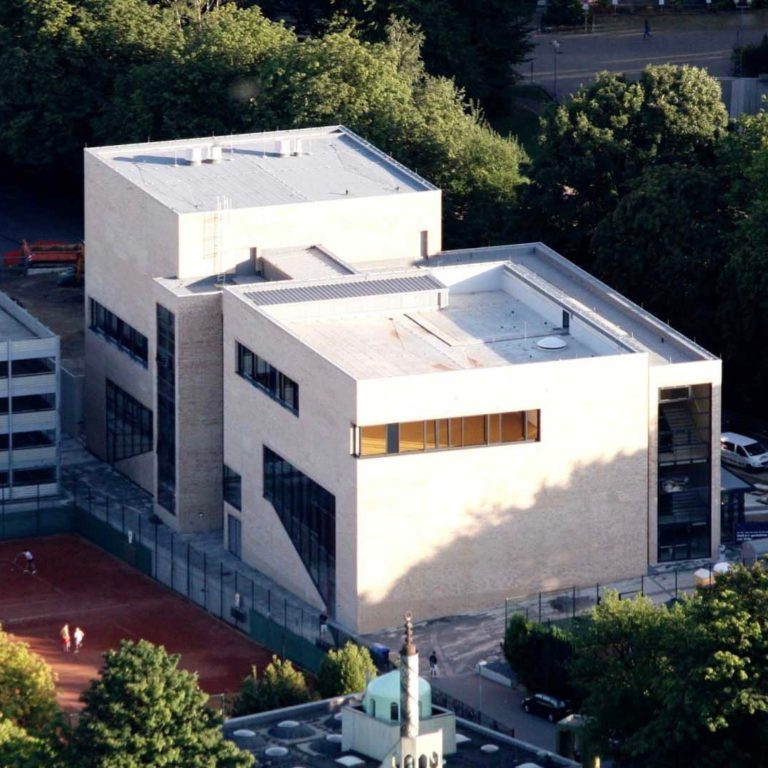 Auditorium building at the RWTH Aachen from above