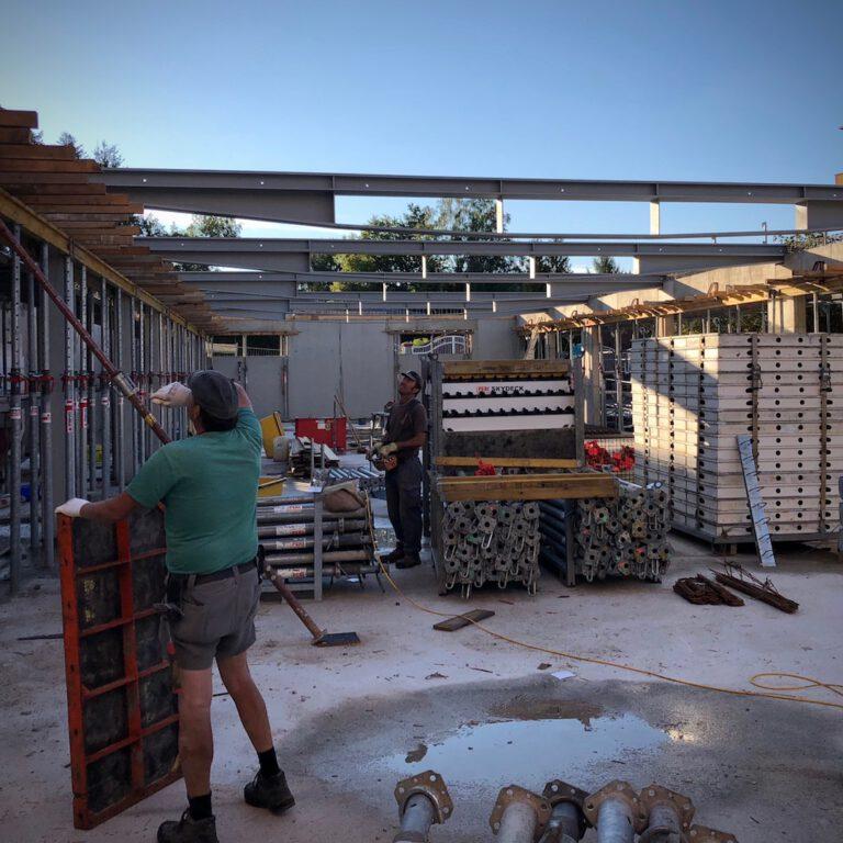 senior citizen center Unger-Leben am Wald  during construction with Draheim Träger