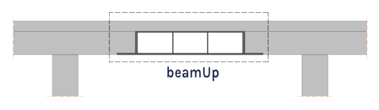 model of beamUp in a concrete beam